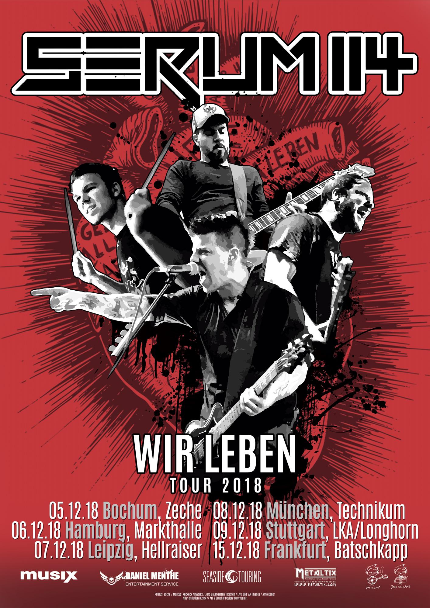 Preview: Serum 114 Wir leben Tour 2018