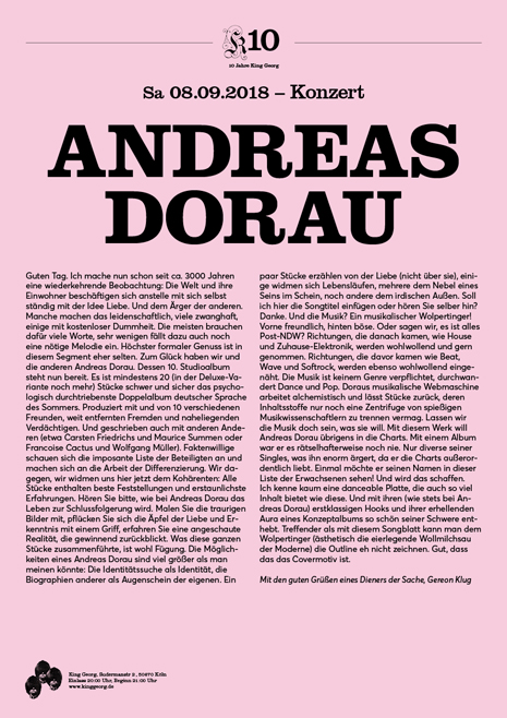 Preview: ANDREAS DORAU