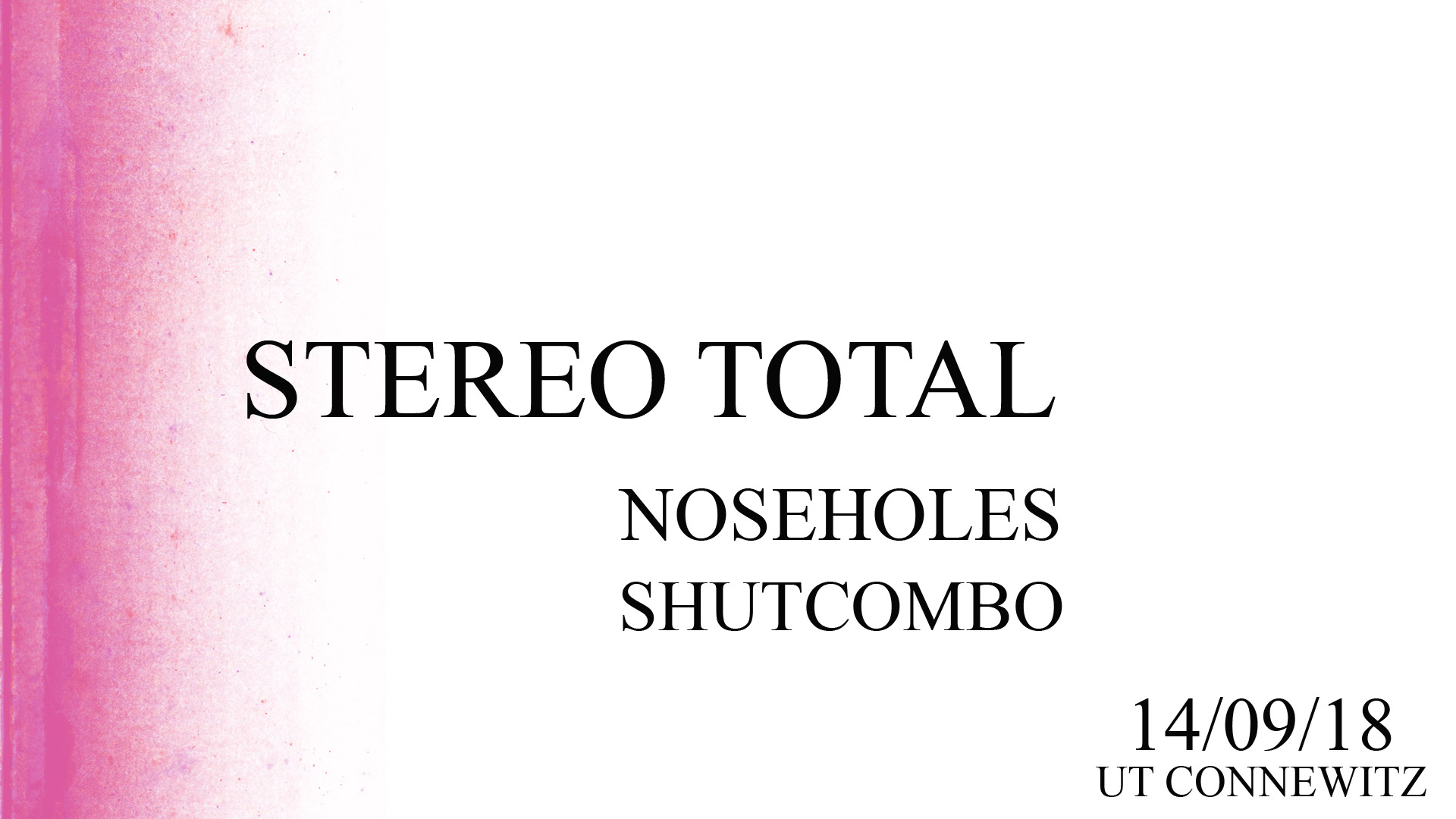 Preview: Stereo Total & Noseholes
