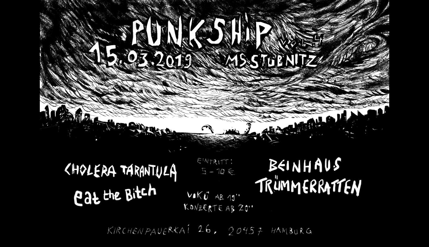Preview: PunkShip: Beinhaus, Eat The Bitch, Trümmerratten, CholeraTarantula