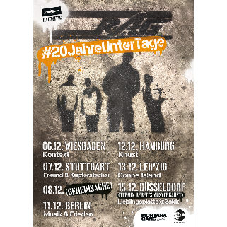 Preview: Ruhrpott AG #20JahreUnterTage Tour